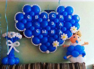 Красивые шары на выписку из роддома для мальчика