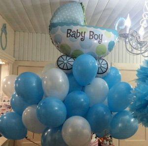 Стильные шары на выписку из роддома для мальчика в Москве