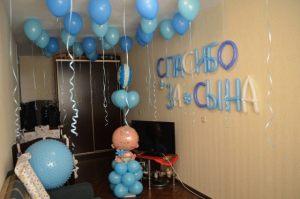 Современные шары на выписку из роддома для мальчика в Москве