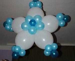 Необычные снежинки из шаров на новый год воздушными шарами срочно