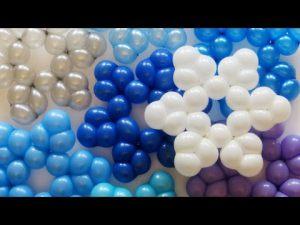 Красивые снежинки из шаров на новый год шарами в Москве