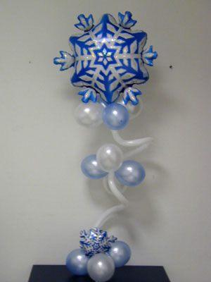 Тематические снежинки из шаров на новый год недорого