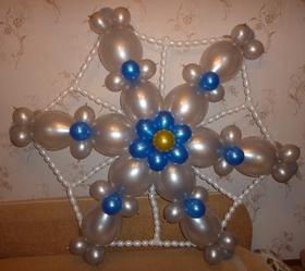 Интересные снежинки из шаров на новый год недорого