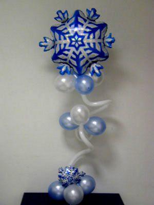 Оригинальное оформление стола на новый год воздушными шариками срочно
