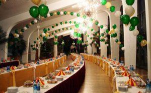 Тематическое оформление стола на новый год воздушными шарами срочно