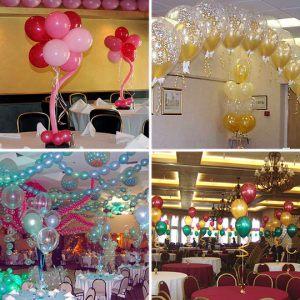 Оригинальное оформление стола на новый год шариками в Москве