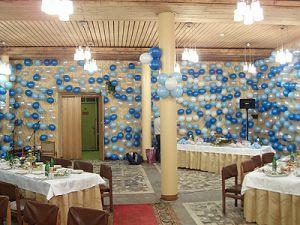 Тематическое оформление стола на новый год шариками в Москве