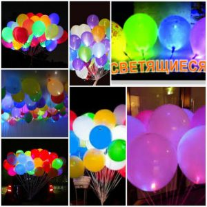Стильные светящиеся шары на новый год недорого