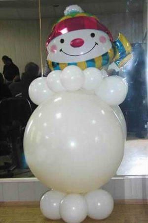 Красивые снеговик из шаров на новый год шарами срочно