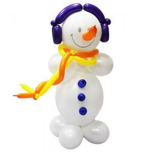 Красивые снеговик из шаров на новый год шарами недорого