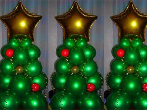Бюджетные украшение дома шарами на Новый год