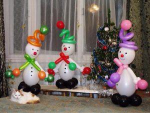 Тематические украшение дома шарами на Новый год недорого