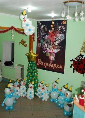 Недорогие украшение дома шарами на Новый год