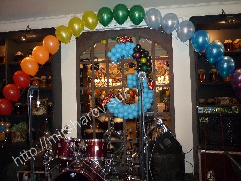 Интересное оформление детского дня рождения воздушными шарами