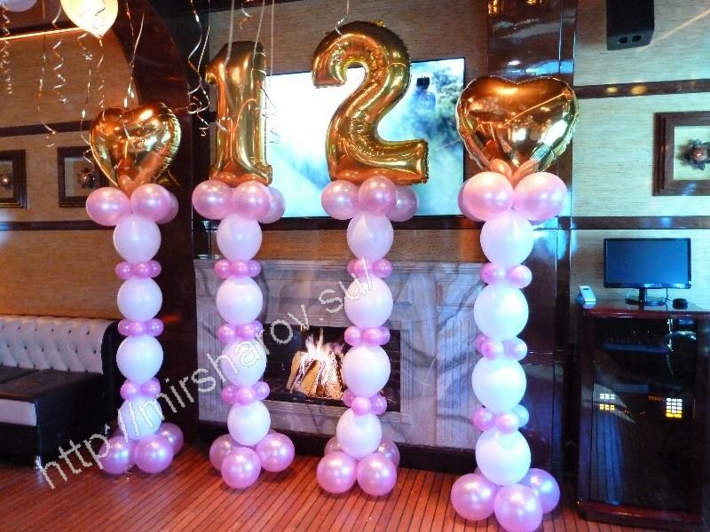 Красивое оформление детского дня рождения шарами