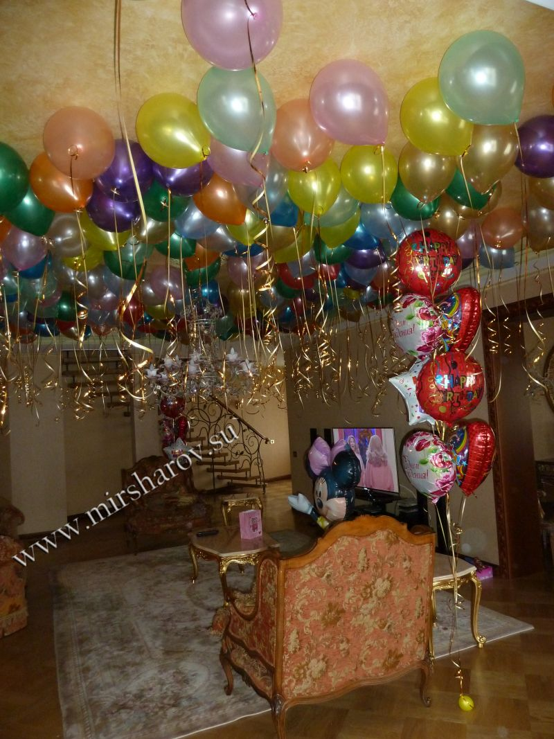 Оригинальное оформление детского дня рождения воздушными шариками срочно
