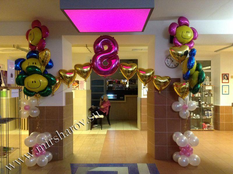 Красивое оформление детского дня рождения воздушными шариками срочно