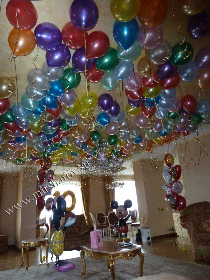 Интересное оформление девочке на день рождение воздушными шариками