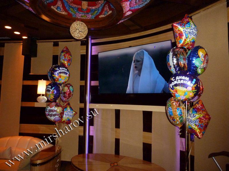 Бюджетное оформление девочке на день рождение шарами в Москве