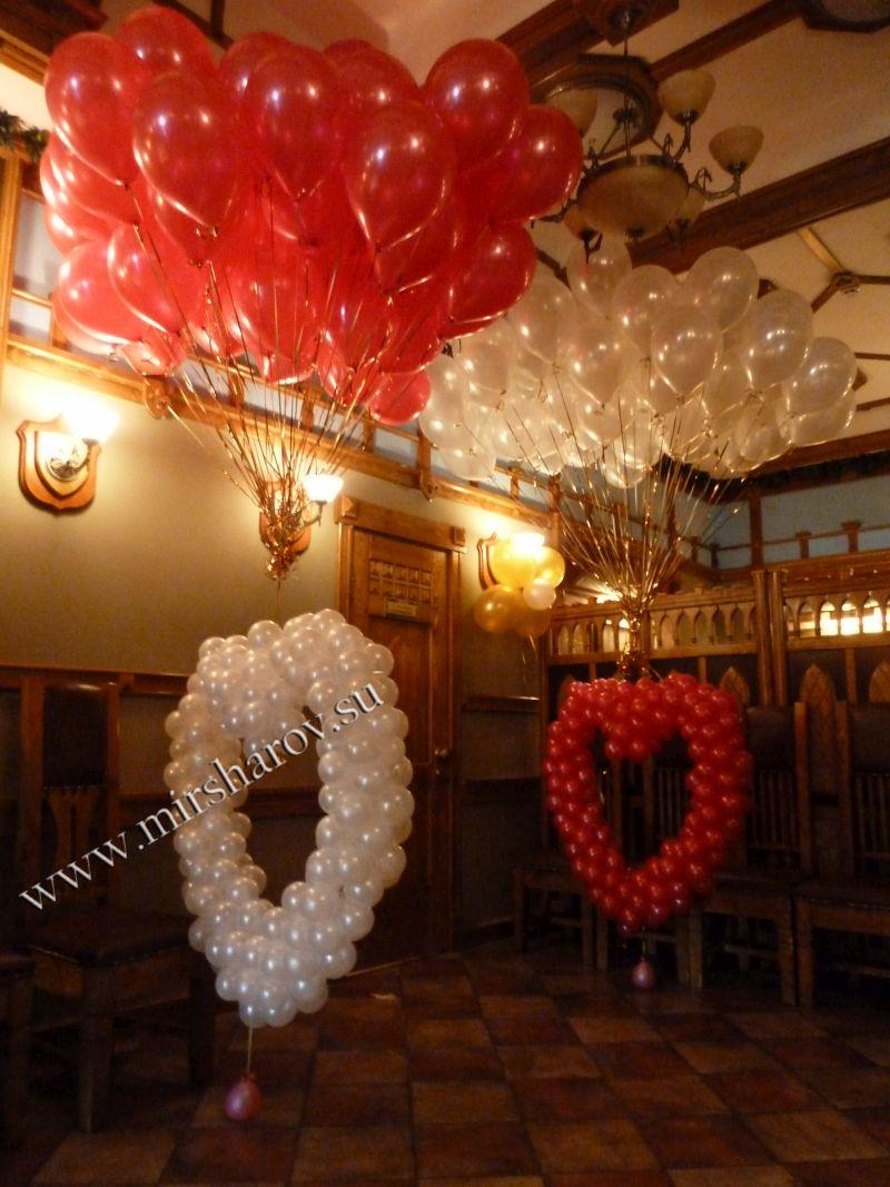 Недорогое оформление женщине дня рождения воздушными шариками