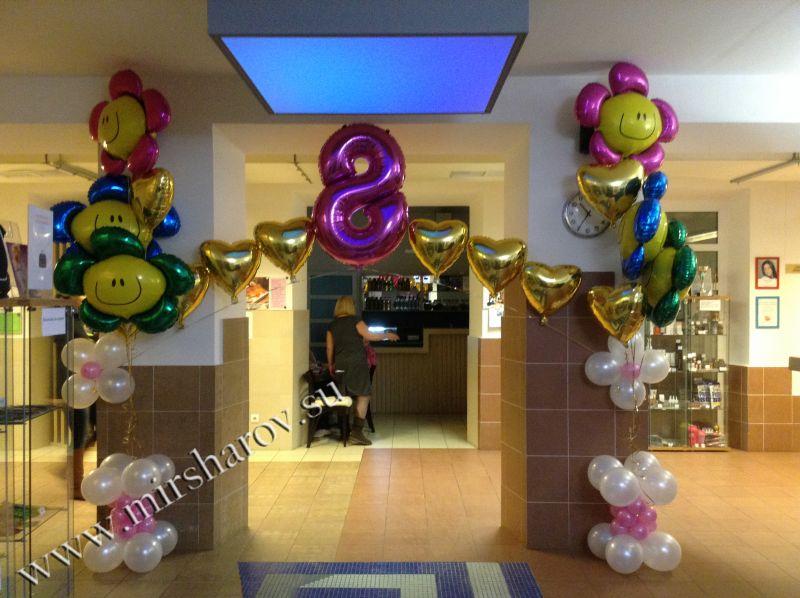 Необычное оформление женщине дня рождения воздушными шарами срочно
