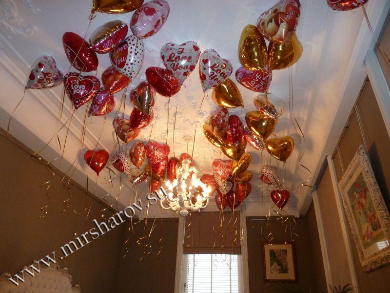 Бюджетное оформление женщине дня рождения воздушными шариками недорого