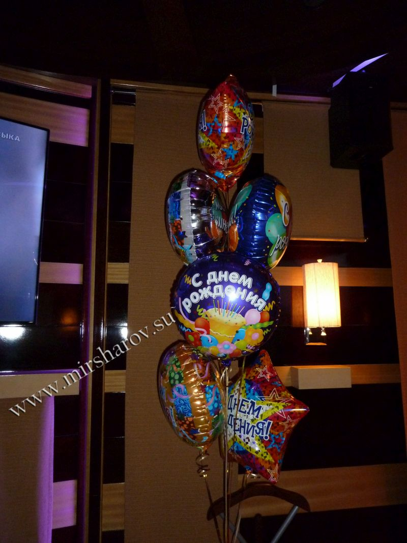 Тематическое оформление женщине дня рождения шарами в Москве
