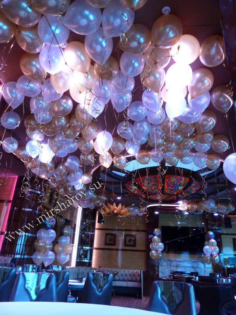 Бюджетное оформление женщине дня рождения воздушными шарами