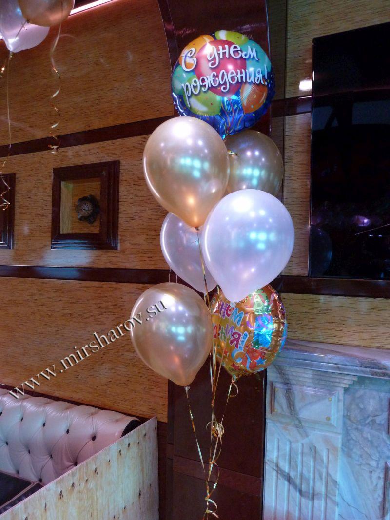 Интересное оформление женщине дня рождения воздушными шариками срочно