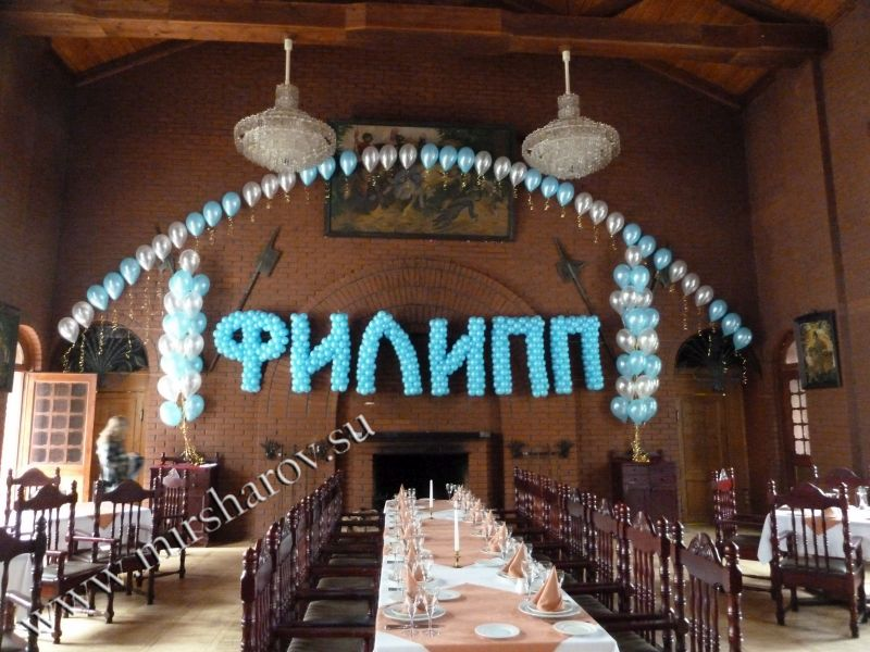 Оригинальное оформление первого дня рождения шарами в Москве