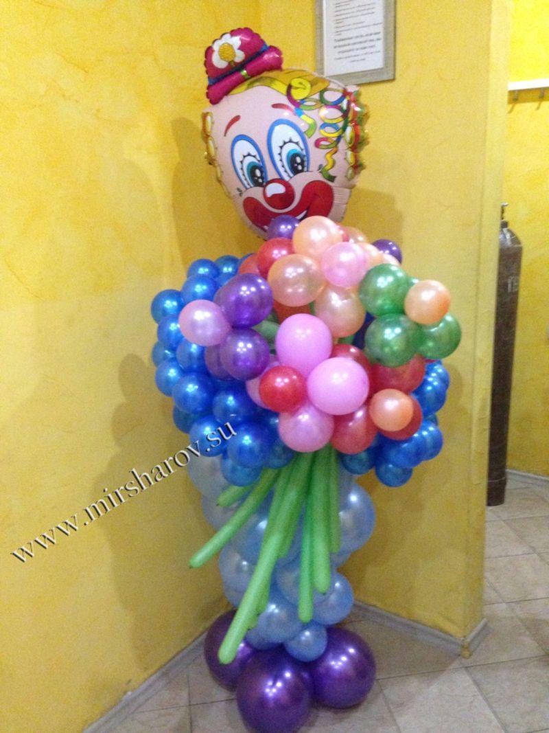 Современное оформление первого дня рождения шарами