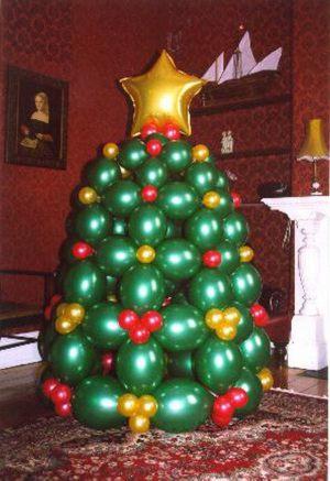 Недорогая елка из шаров на новый год воздушными шариками срочно