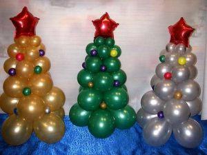 Необычная елка из шаров на новый год