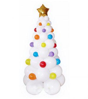 Стильная елка из шаров на новый год воздушными шариками недорого