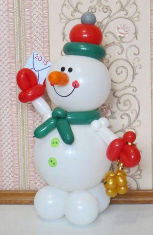 Стильные фигуры из шаров на Новый год срочно