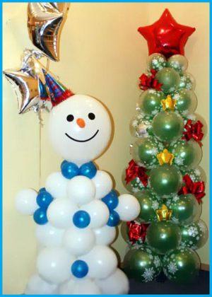 Необычные фигуры из шаров на Новый год недорого
