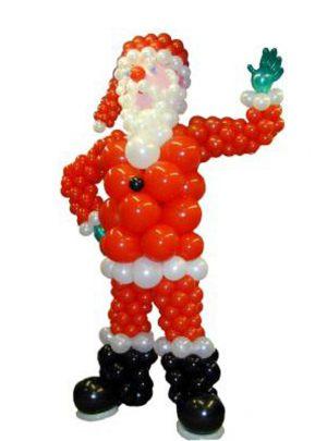 Современные фигуры из шаров на Новый год