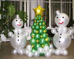 Тематические фигуры из шаров на Новый год срочно