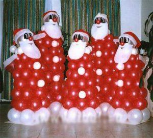 Интересные фигуры из шаров на Новый год
