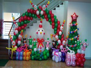 Красивые фигуры из шаров на Новый год