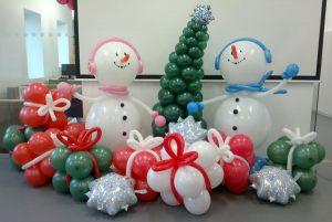Стильные фигуры из шаров на Новый год купить в Москве