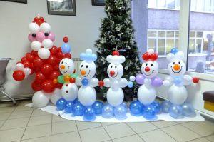 Оригинальные фигуры из шаров на Новый год недорого