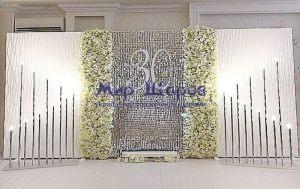 новогодняя живая стена из пайеток аренда москва