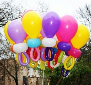 Бюджетное оформление гелиевыми шарами на выписку в Москве