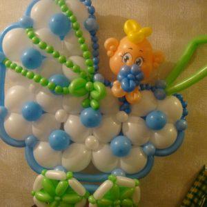 Недорогое оформление гелиевыми шарами на выписку шарами недорого