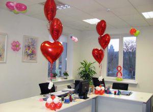Бюджетное оформление кабинета на день рождение шариками недорого