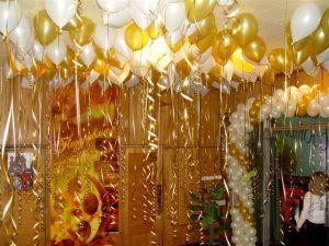 Необычное оформление кабинета на день рождение воздушными шариками