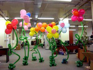 Стильное оформление кабинета на день рождение шарами срочно
