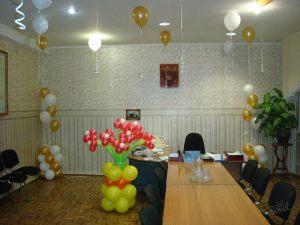 Тематическое оформление кабинета на день рождение воздушными шарами срочно