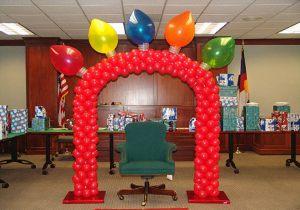 Необычное оформление кабинета на день рождение